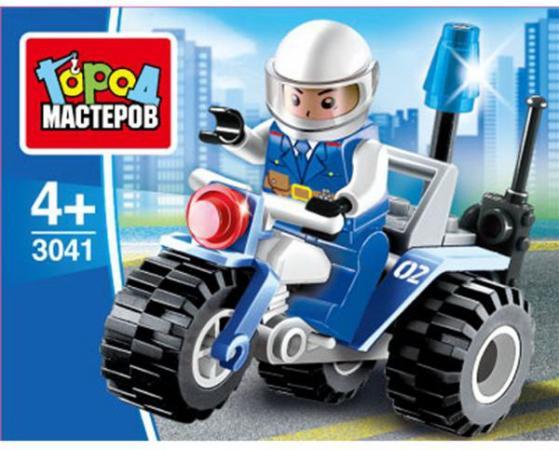 Конструктор Город мастеров Полицейский мотоцикл 27 элементов город мастеров конструктор металлический мотоцикл