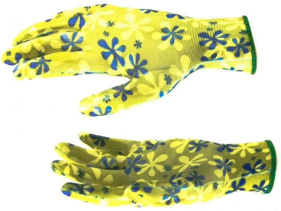 Фото - Перчатки садовые из полиэстера с нитрильным обливом, зеленые, M// Palisad перчатки садовые verdemax серо зеленые m