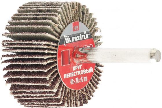 Круг лепестковый для дрели, 40 х 20 х 6 мм, P 40// Matrix брусок сухой строганный хвоя 40 х 40 х 2000 мм