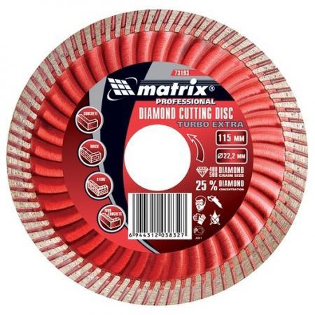 Фото - Диск алмазный отрезной Turbo Extra, 180 х 22,2 мм, сухая резка// Matrix диск алмазный отрезной сегментный 180 х 22 2 мм сухая резка matrix