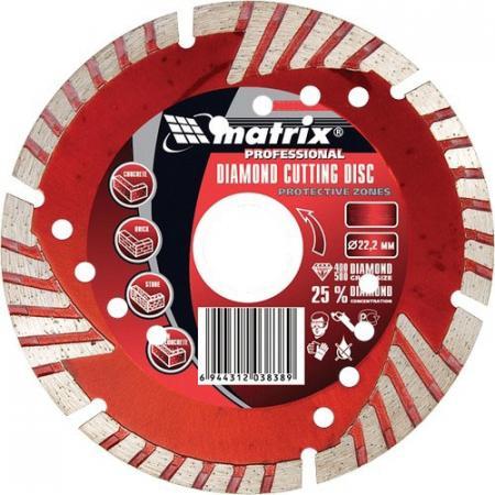 Фото - Диск алмазный отрезной сегментный с защитными сект, 125 х 22,2 мм, сухая резка// Matrix диск алмазный отрезной сегментный с защитными сект 125 х 22 2 мм сухая резка matrix