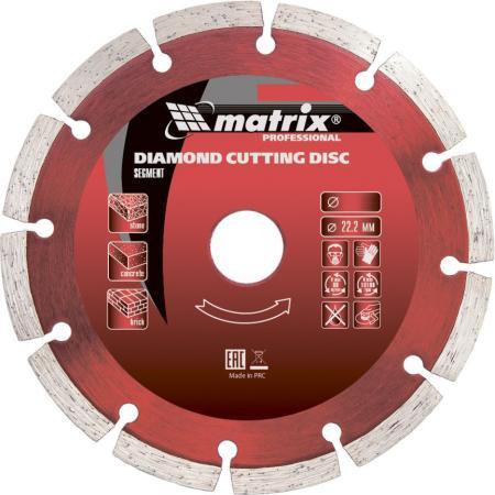 Фото - Диск алмазный отрезной сегментный, 180 х 22,2 мм, сухая резка// Matrix диск алмазный отрезной сегментный с защитными сект 125 х 22 2 мм сухая резка matrix