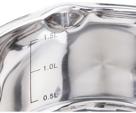 цена Кастрюля Арти-М Agness 937-150 17 см 1.9 л нержавеющая сталь онлайн в 2017 году