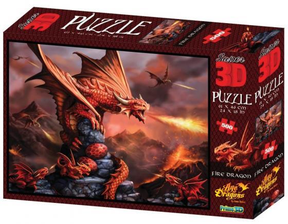 Пазл 3D 500 элементов best toys Огненный дракон пазл 6 элементов best toys животные