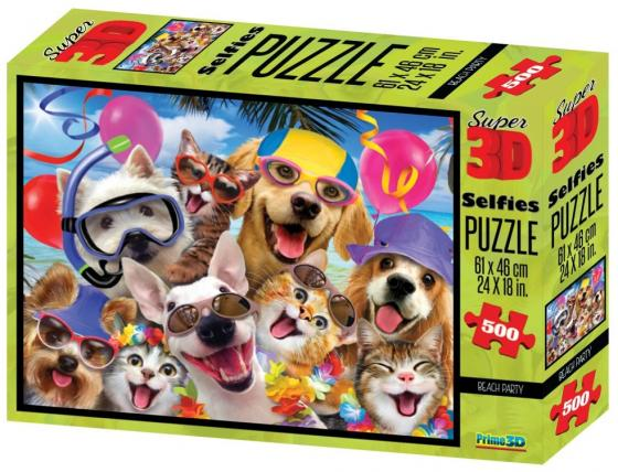 Пазл 3D 500 элементов best toys Пляжная селфи-вечеринка пазл 6 элементов best toys животные