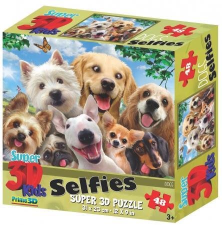 Пазл 3D 48 элементов best toys Собаки селфи пазл 6 элементов best toys животные