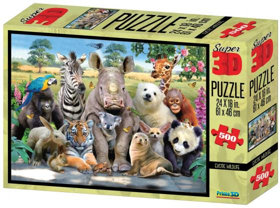 Пазл 3D 500 элементов best toys Экзотическая живая природа пазл 6 элементов best toys животные
