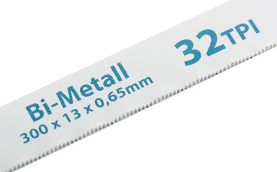 Полотна для ножовки по металлу, 300 мм, 32TPI, BiM, 2 шт.// Gross полотна для ножовки по металлу 300 мм шаг 1 мм 2 шт сибртех