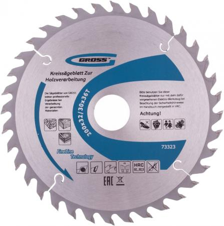 Пильный диск по дереву 200 x 32/30 x 36Т // Gross пильный диск по дереву 230 x 32 30 x 24т gross