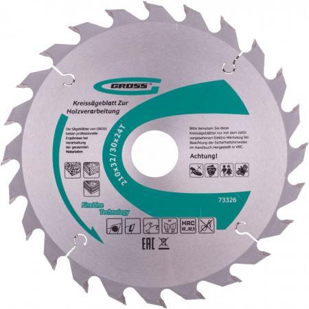 Пильный диск по дереву 210 x 32/30 x 24Т // Gross пильный диск по дереву 230 x 32 30 x 24т gross