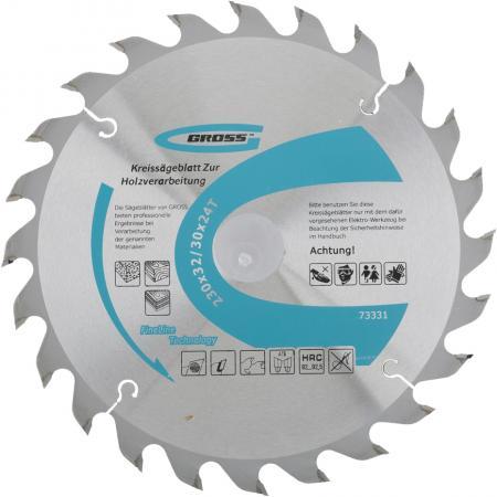 Пильный диск по дереву 230 x 32/30 x 24Т // Gross пильный диск по дереву 230 x 32 30 x 24т gross