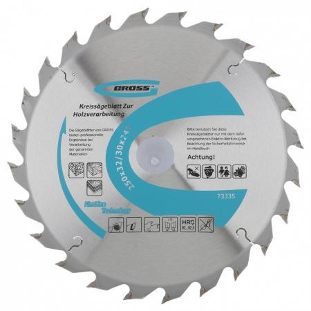 Пильный диск по дереву 250 x 32/30 x 24Т // Gross пильный диск по дереву 230 x 32 30 x 24т gross