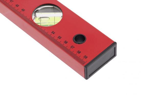 Уровень алюминиевый, 800 мм, 3 глазка, красный, линейка// Matrix уровень брусковый 3 глаз matrix 34201 60 см