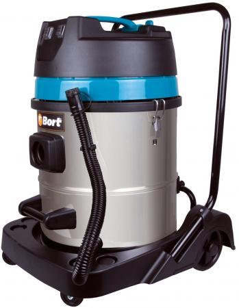 Строительный пылесос Bort BSS-2260-Twin 2200Вт (уборка: сухая/влажная) синий пылесос bort bss 2260 twin bss 2260 twin