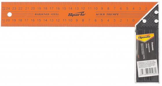Фото - Угольник, 250 мм, металлический// Sparta угольник 250 мм металлический sparta