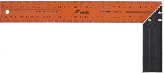Фото - Угольник, 300 мм, металлический// Sparta угольник 250 мм металлический sparta