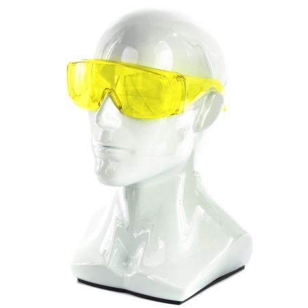 Очки защитные открытого типа, желтые, ударопрочный поликарбонат Россия </div> <div class=