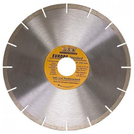 Фото - Диск алмазный отрезной сегментный, 230 х 22,2 мм, сухая резка, EUROPA Standard// Sparta диск алмазный отрезной сегментный 180 х 22 2 мм сухая резка sparta