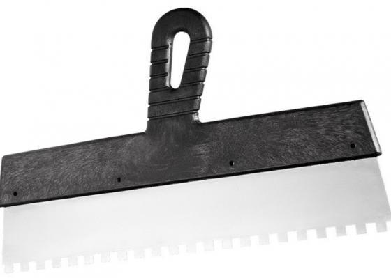 Фото - Шпатель из нержавеющей стали, 450 мм, зуб 6х6 мм, пластмассовая ручка// Сибртех шпатель из нержавеющей стали 450 мм зуб 6х6 мм пластмассовая ручка сибртех