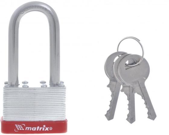 Фото - Замок навесной, 50 мм, удлиненная дужка// Matrix замок навесной защищенная дужка 60 мм matrix