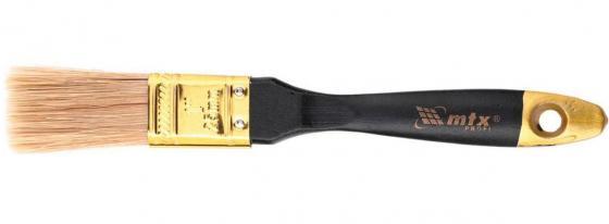 """Кисть плоская """"Профи"""" 1"""", натуральная щетина, деревянная ручка// MTX недорого"""