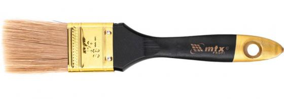 """Кисть плоская """"Профи"""" 1,5"""", натуральная щетина, деревянная ручка// MTX недорого"""