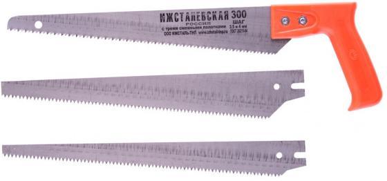 Ножовка по дереву, 300 мм, 3 сменных полотна, пластиковая рукоятка (Ижевск) </div> <div class=