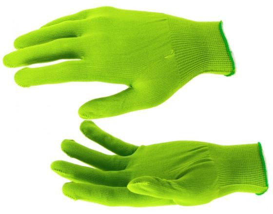 Перчатки нейлон, 13 класс, цвет изумрудный, L// Россия