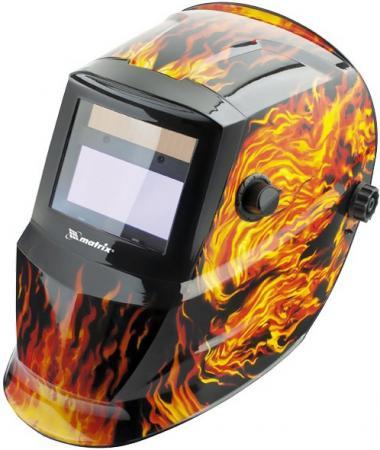 Щиток защитный лицевой (маска сварщика) с автозатемнением, пламя // Matrix цена в Москве и Питере