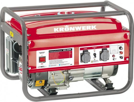 Генератор бензиновый KB 2500, 2,4 кВт, 220В/50Гц, 15 л, ручной старт// Kronwerk бензиновый генератор zongshen kb 6000e 1t90df601