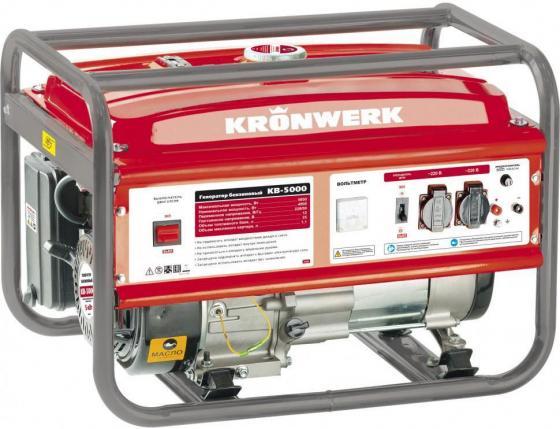 Генератор бензиновый KB 5000, 5,0 кВт, 220В/50Гц, 25 л, ручной старт// Kronwerk бензиновый генератор zongshen kb 5000e 1t90df501