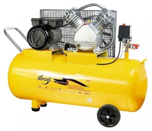 Компрессор воздушный PC 2/100-370, 2,2 кВт, 370 л/мин, 100 л// Denzel компрессор воздушный pc 2 100 360 2 3 квт 360 л мин 100л 10 бар denzel