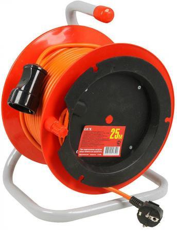 Удлинитель силовой LUX К1-Е-25 (22125) 3x0.75кв.мм 1розет. 25м ПВС 10A катушка