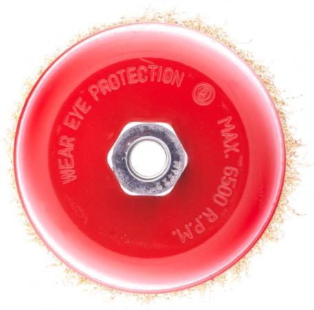 Фото - Щетка для УШМ, 125 мм, М14, чашка, латунированная витая проволока// Matrix щетка для ушм 175 мм посадка 22 2 мм плоская латунированная витая проволока matrix