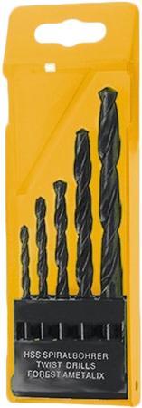 Фото - Набор сверл по металлу, 1,5-2,5-3-4-5 мм, HSS, 5 шт., пласт. бокс, цилинд. хвостовик// Sparta набор сверл по металлу 1 10 мм через 0 5 мм hss 19 шт пластик коробка цил хвостовик сибртех