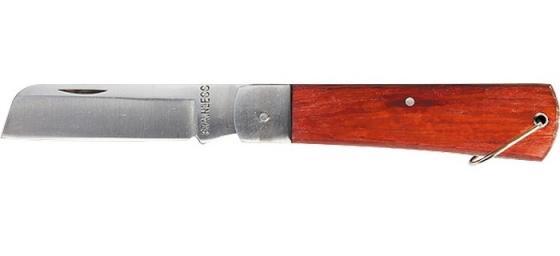 Фото - Нож складной, 200 мм, прямое лезвие, деревянная ручка// Sparta нож складной 200 мм загнутое лезвие деревянная ручка sparta