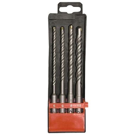 Набор буров по бетону, 5-6-8-10х160 мм, 4 шт., в пласт. коробке, SDS PLUS// Matrix набор буров для перфоратора bosch sds plus 7x 5 10 мм 5 шт 2608576199