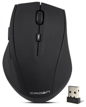 Мышь беспроводная Crown CMM-046W чёрный USB недорого