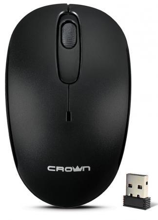 Мышь беспроводная Crown CMM-10W black чёрный USB