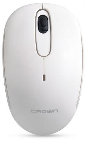 Мышь беспроводная Crown CMM-10W white белый USB CM000002185 мышь беспроводная crown cmm 928w giraffe белый usb