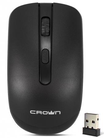 Мышь беспроводная Crown CMM-336W чёрный USB мышь беспроводная hp 200 silk золотистый чёрный usb 2hu83aa