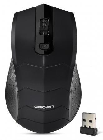 Мышь беспроводная Crown CMM-934W black чёрный USB недорого