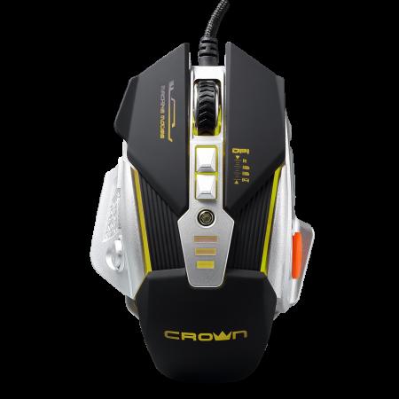 лучшая цена Мышь проводная Crown CMG-01 ROBOTIC чёрный серебристый USB