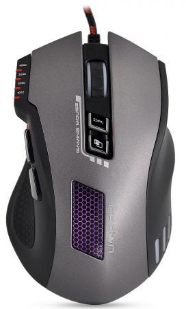 цена на Мышь проводная Crown CMXG-711 TITAN чёрный серый USB