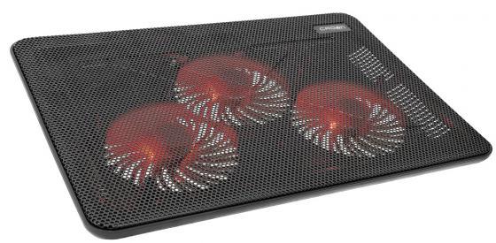 "Подставка для ноутбука CROWN CMLC-1043T (Для ноутбуков диагональю до 17"", подсветка красная, 3*кулер D110*15мм) цена и фото"