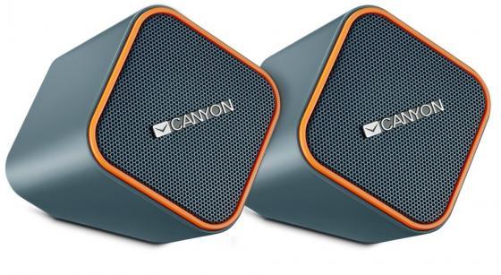 Колонки CANYON CNS-CSP203O Black/Orange (2.5Вx2,USB/DC5V)
