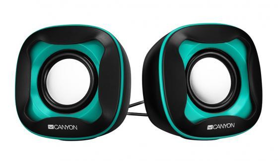 Колонки CANYON CNS-CSP202 Black/Green (3Вx2,USB 2.0) цена