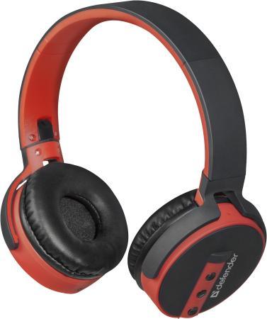 цена на Гарнитура Defender FreeMotion B530 черный+красный, Bluetooth