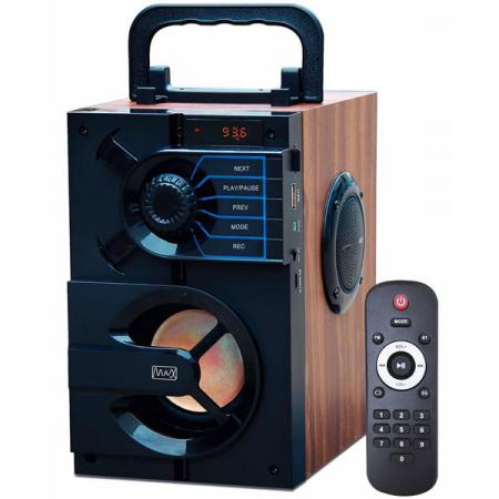 Радиоприемник MAX MR-440 FM/USB/MicroSD/AUX/Bluetooth, Аккумулятор на 1200mAh, LED дисплей, Черный