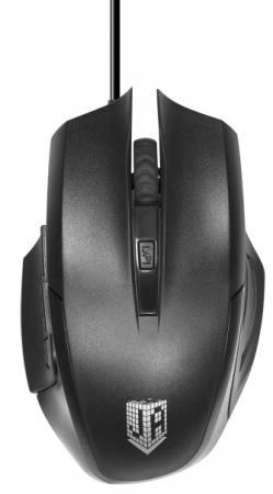 Проводная мышь Jet.A Comfort OM-U54 LED чёрная (800/1200/1600/2400dpi, 5 кнопок, LED-подсветка, USB)